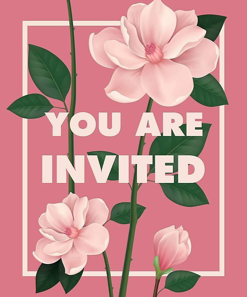请您在粉色背景上印有樱花的字样_2768250