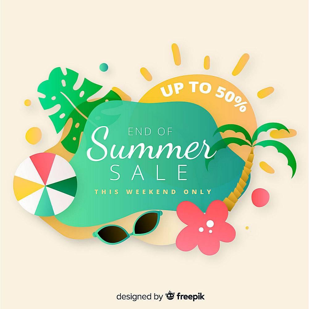 夏末销售背景_5093745