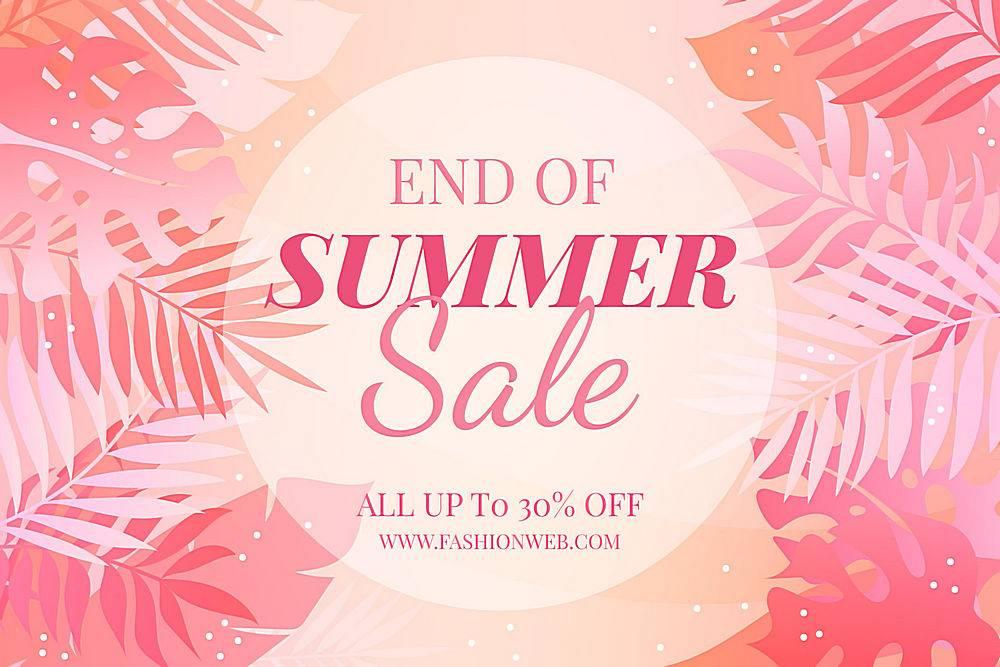 夏末销售背景_9467493