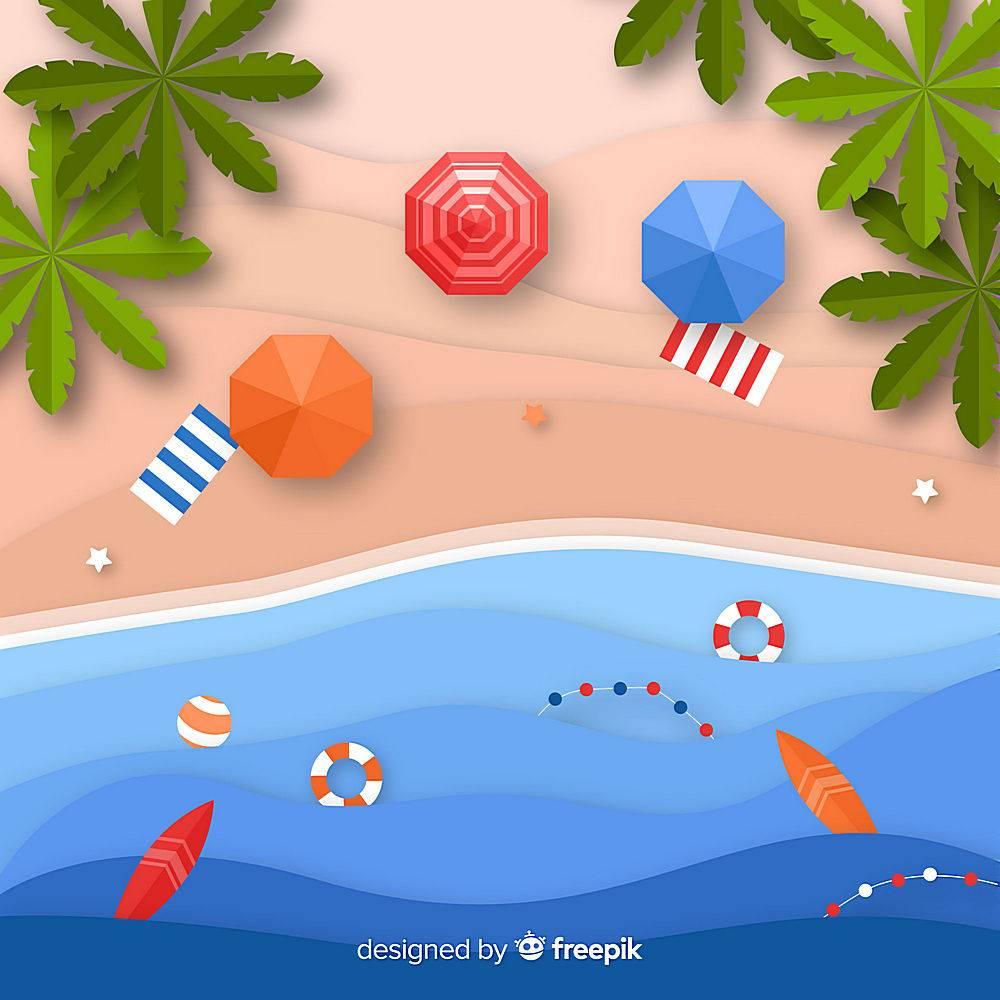 图纸样式的海滩俯视图_4727071