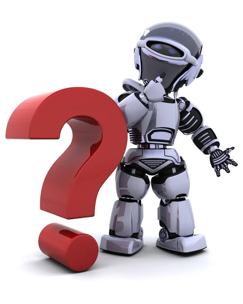 带有审问符号的机器人_958112