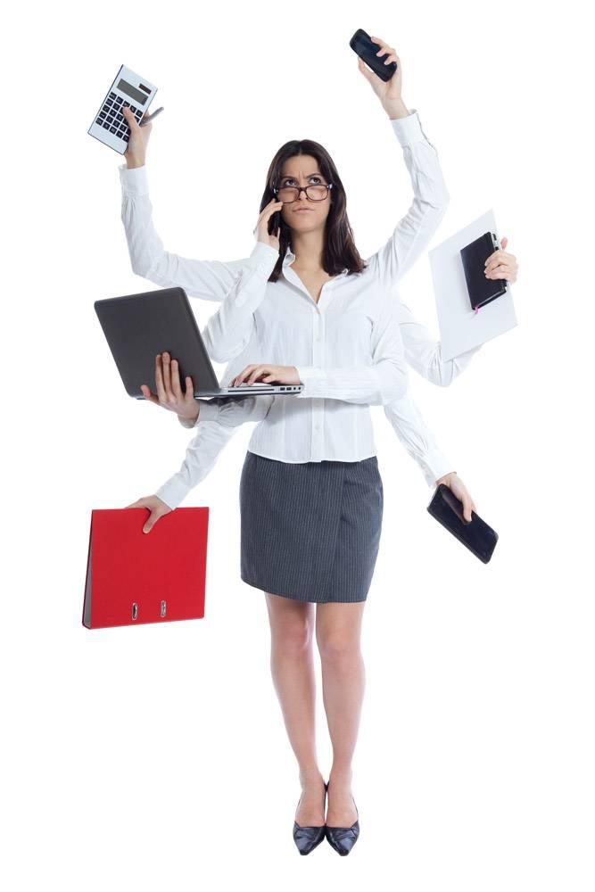 工作压力很大的女商人与世隔绝的白色_1139917
