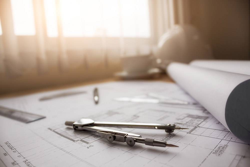 工程对象在工作场所俯视图上的图像建筑概_1239494