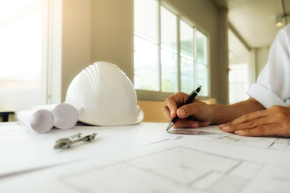 工程师手中的图纸施工概念工程工具复_1238666