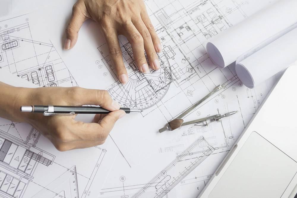 工程师手中的图纸施工概念工程工具复_1239239