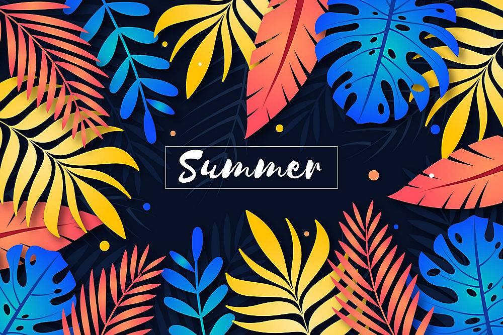 装饰性夏季背景概念_8280120