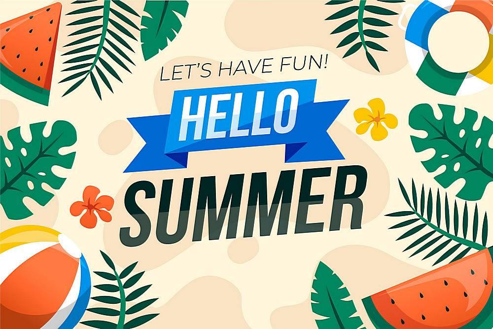 夏日背景平面设计_8248244