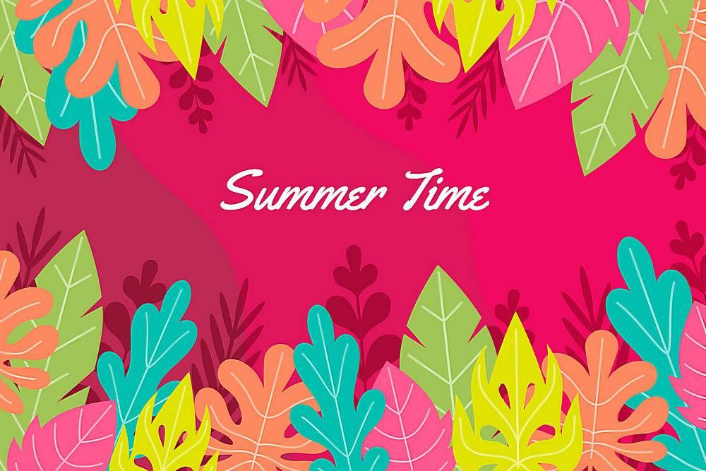 夏日背景色彩斑斓_8355272