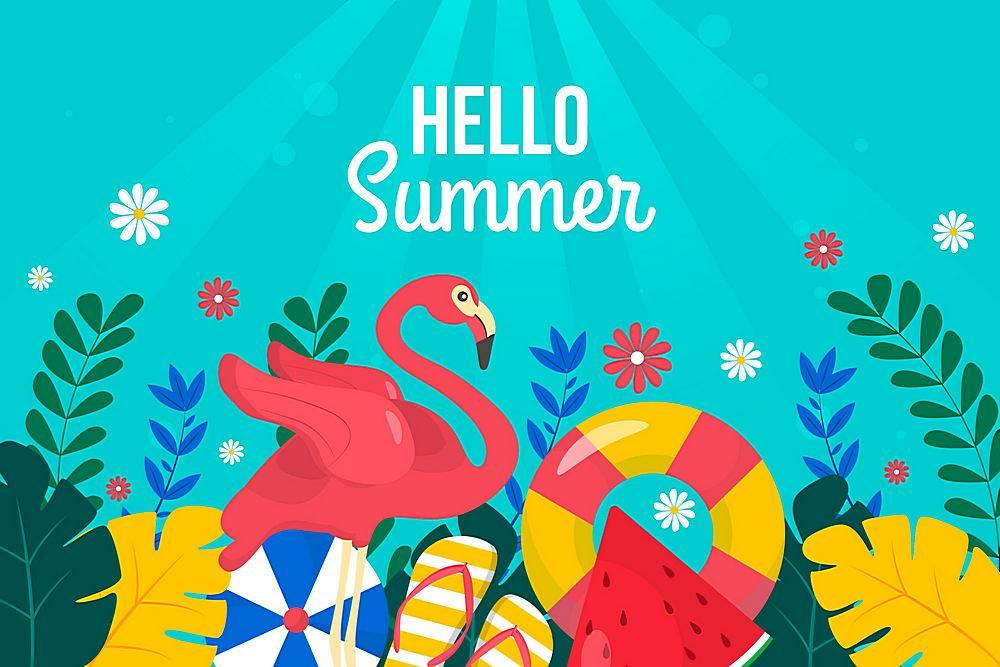 夏日背景色彩斑斓的设计_8248251