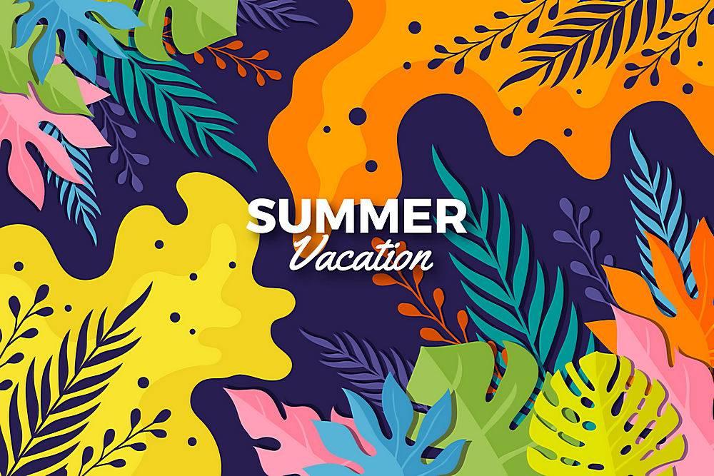 夏日背景色彩斑斓的设计_8355270