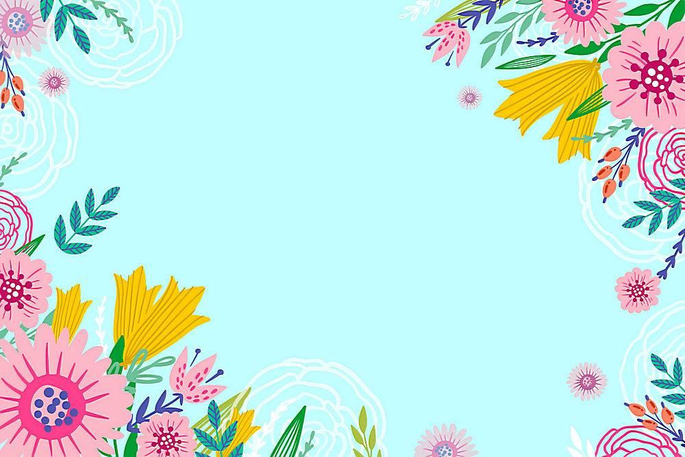 夏日背景花团锦簇_8486342