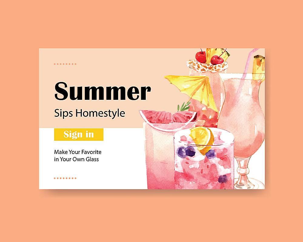 夏日饮品网站模板_8610075