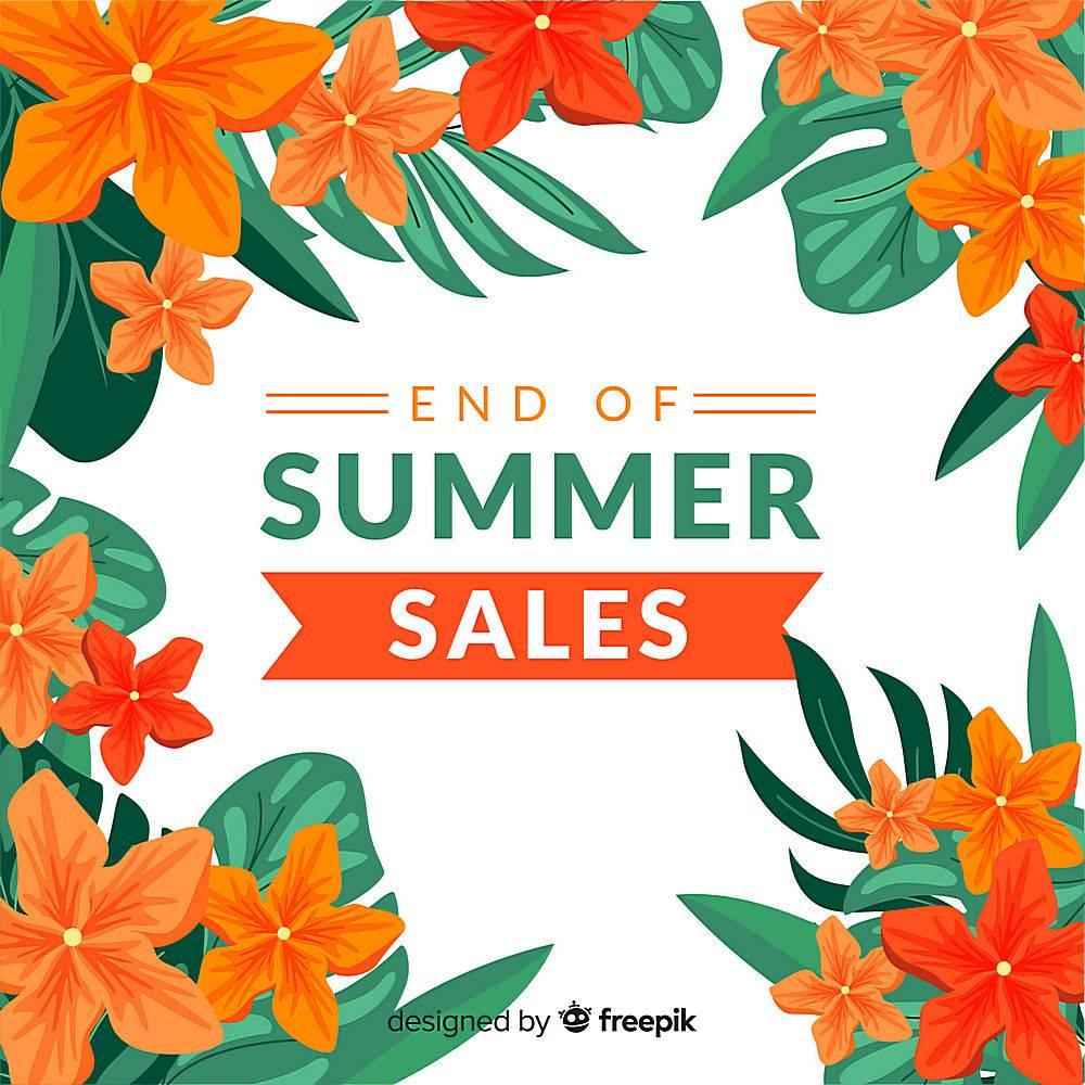 夏末销售背景_5093746