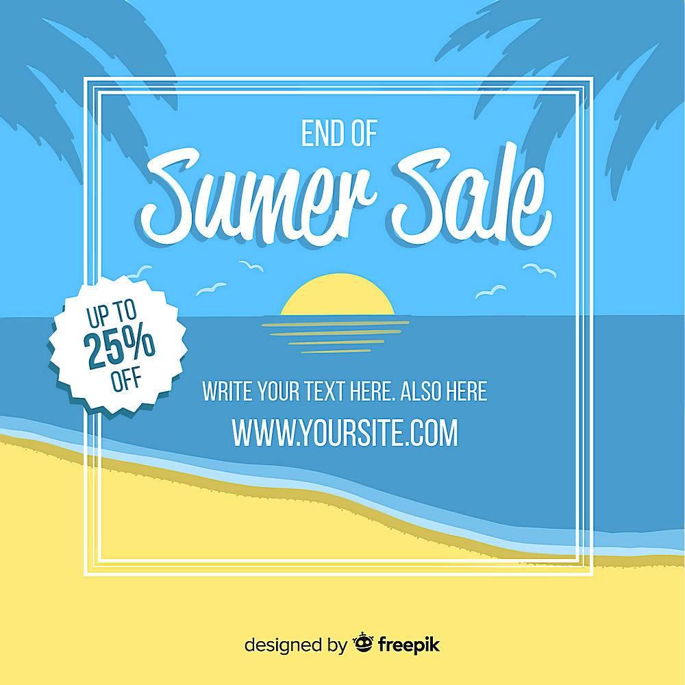 夏末销售背景_5093749