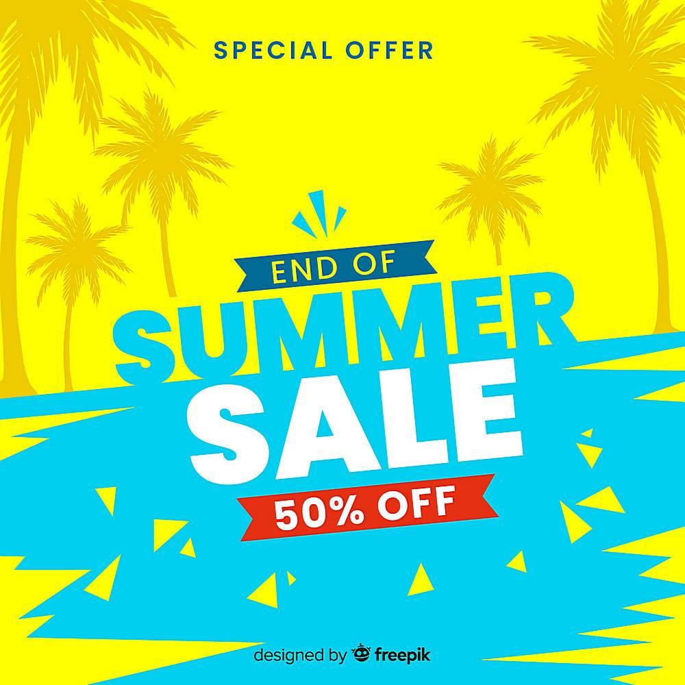 夏末销售背景_5128739