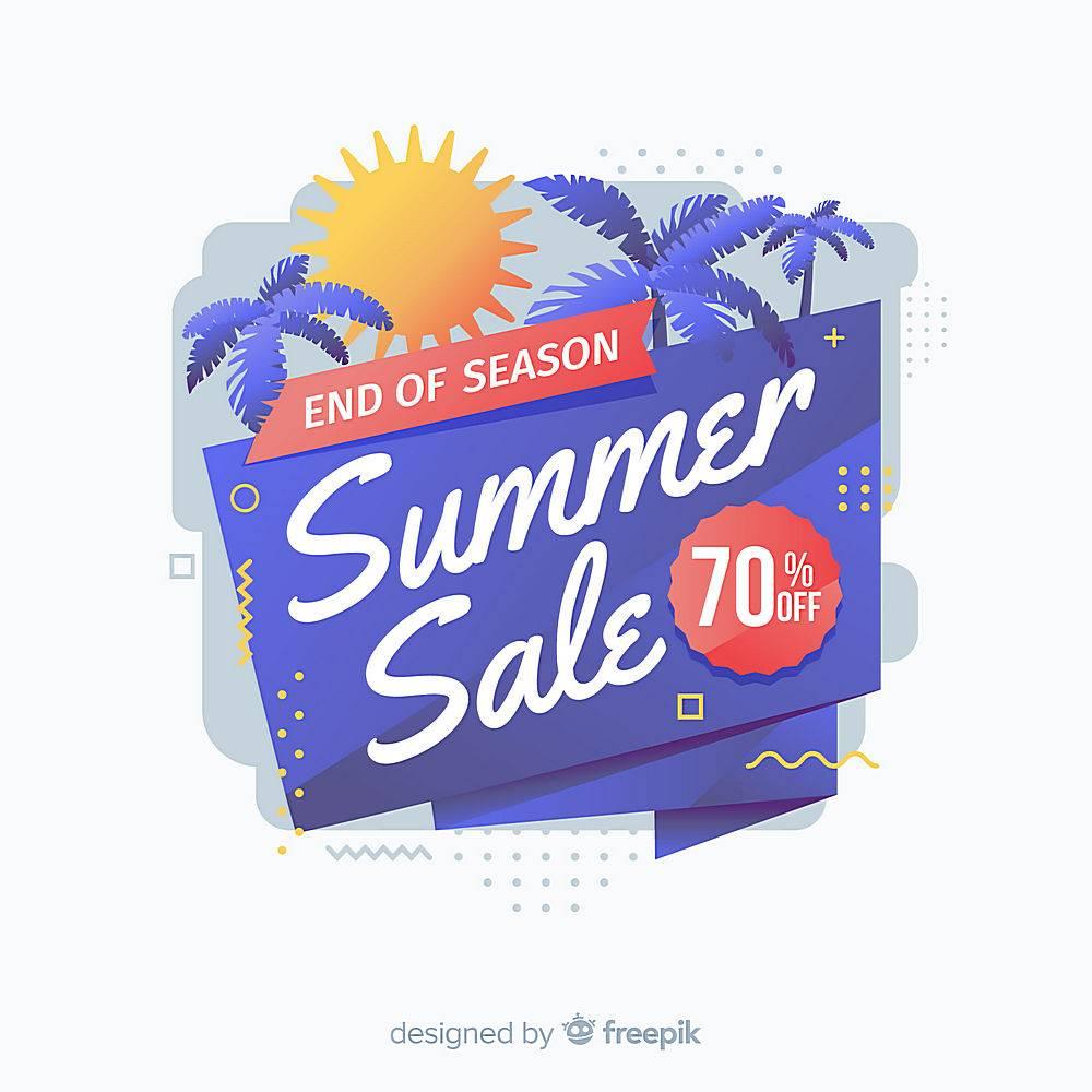 夏末销售背景_4942304