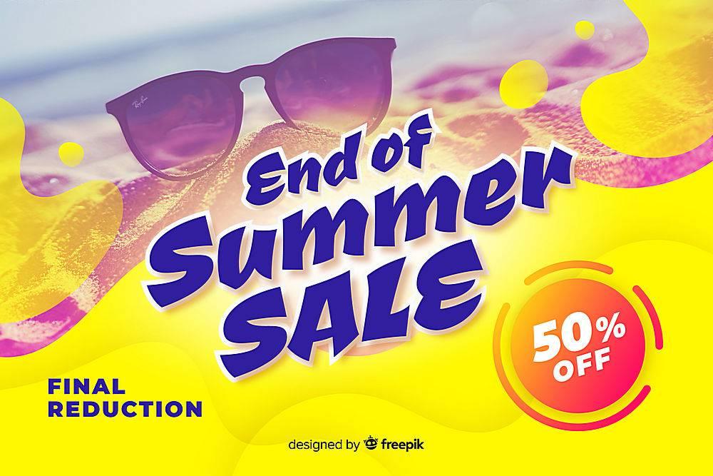 夏末销售背景_4983583