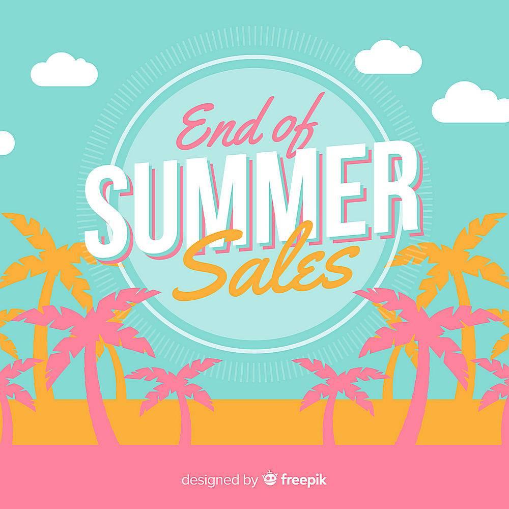 夏末销售背景_4983596