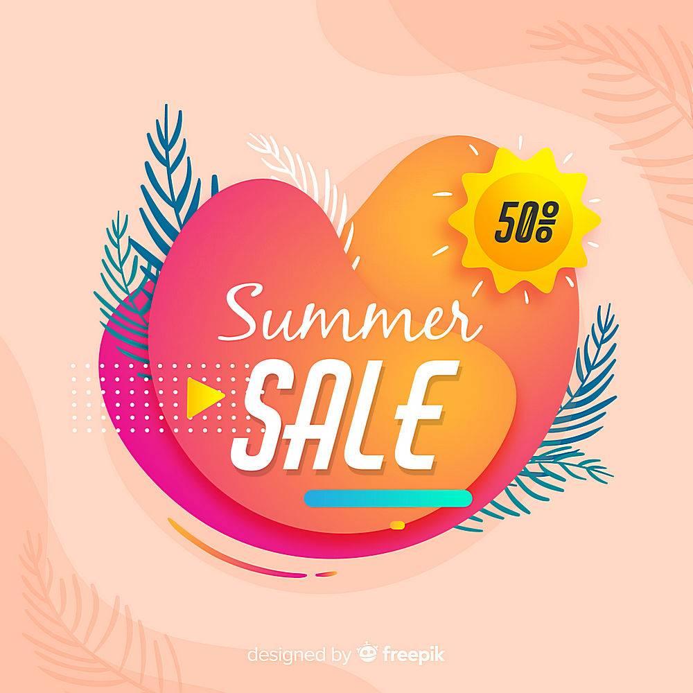 夏末销售背景_4988988