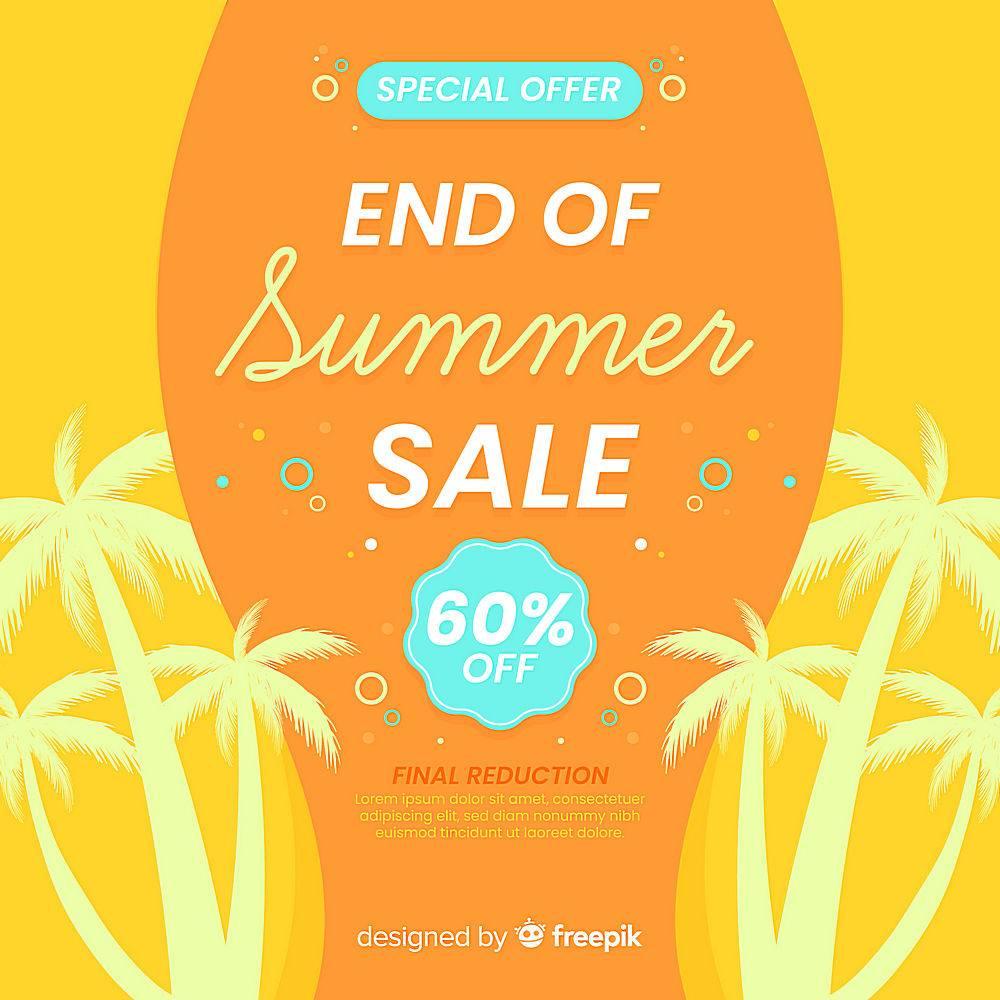 夏末销售背景_5057477