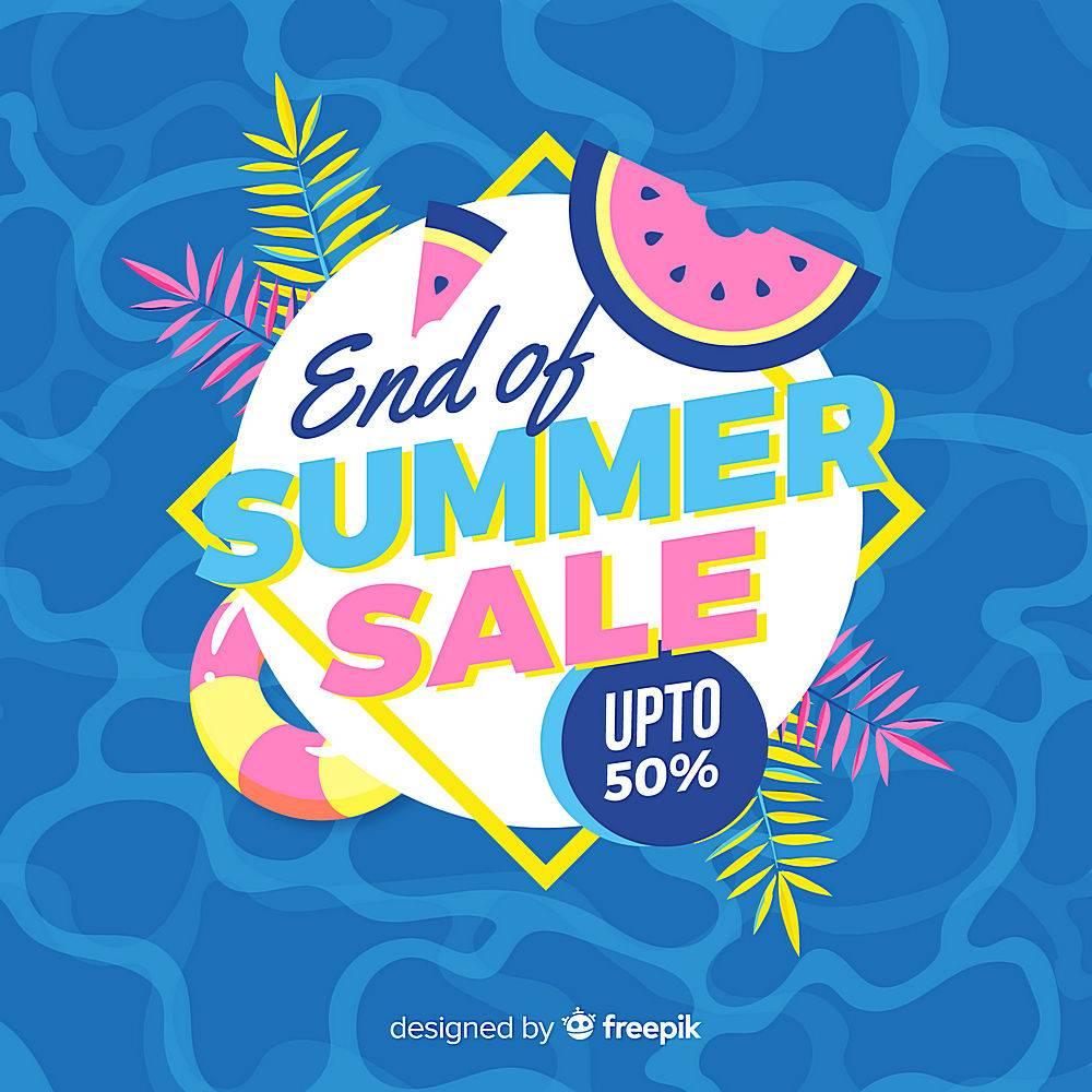 夏末销售背景_5163273