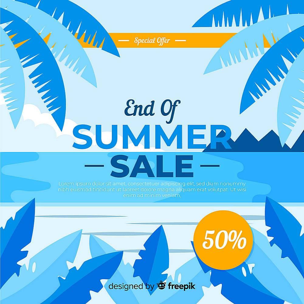 夏末销售背景_5338143