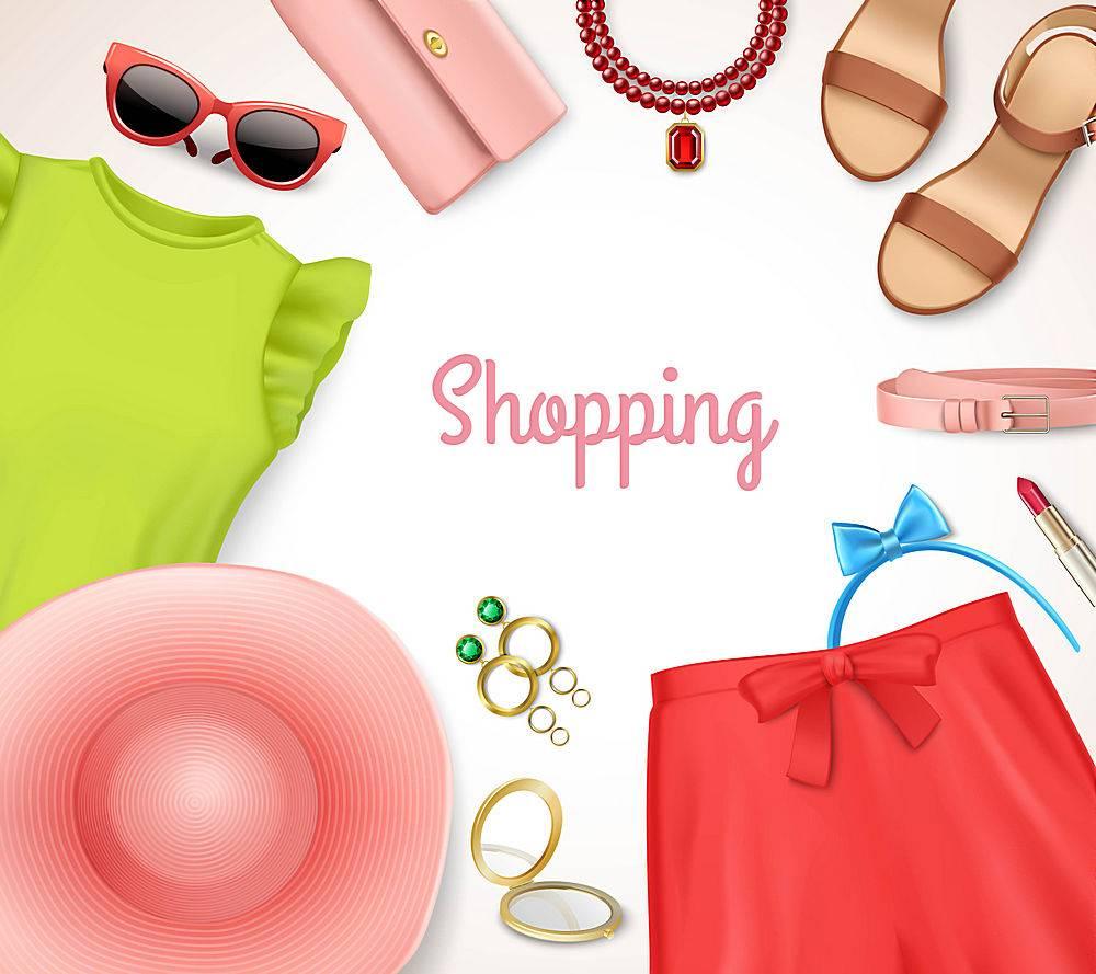 夏装女装及配饰架购物海报_3796357