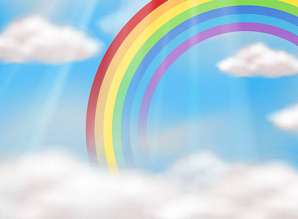 天空中一道美丽的彩虹_2439878