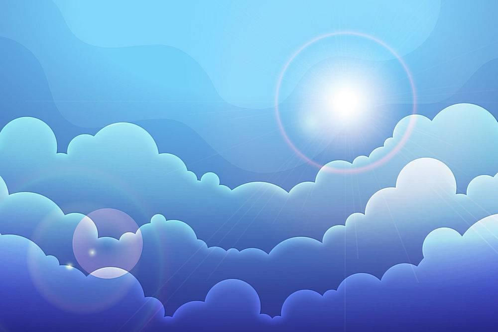 天空视频会议的背景_9427926