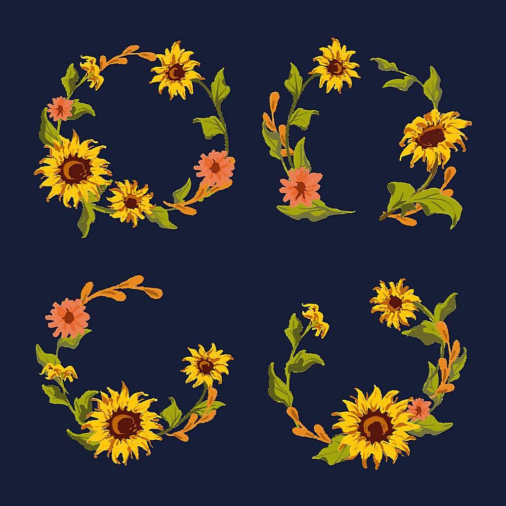 向日葵花环收藏_3748329