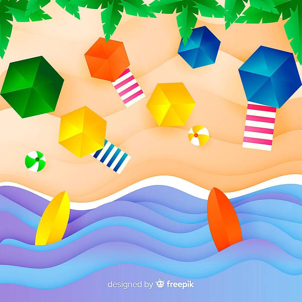 图纸样式的海滩俯视图_4650495