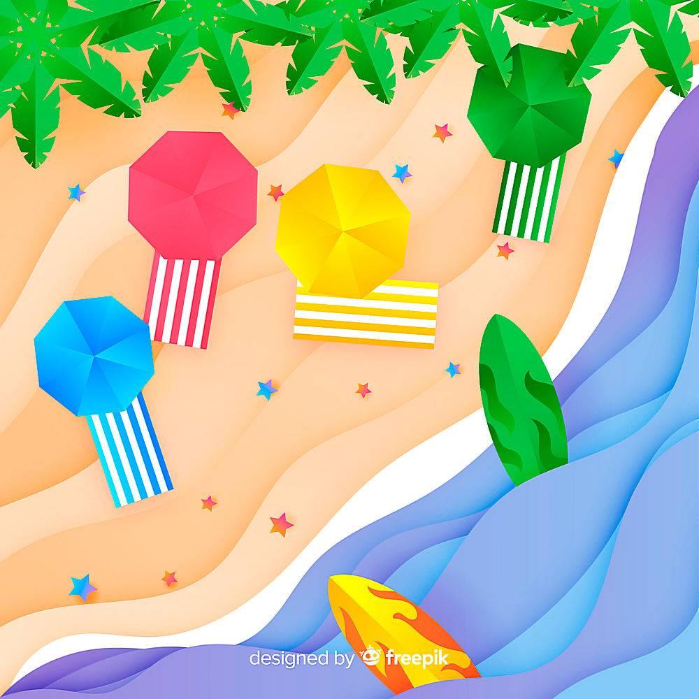 图纸样式的海滩俯视图_4650498