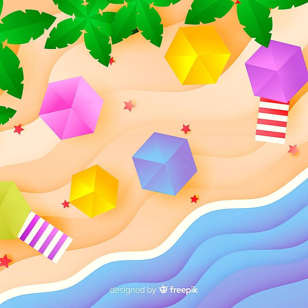 图纸样式的海滩俯视图_4650524