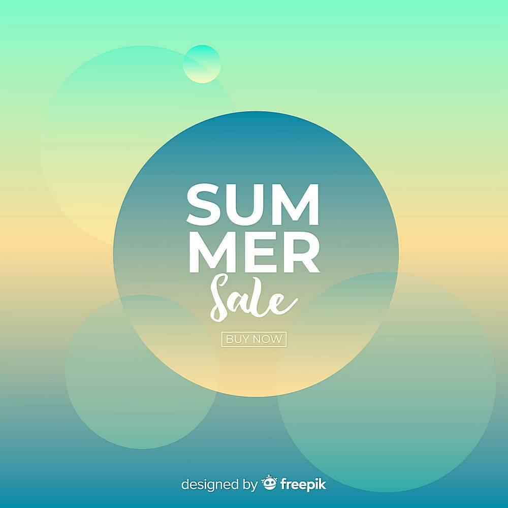 夏季促销背景_4501401