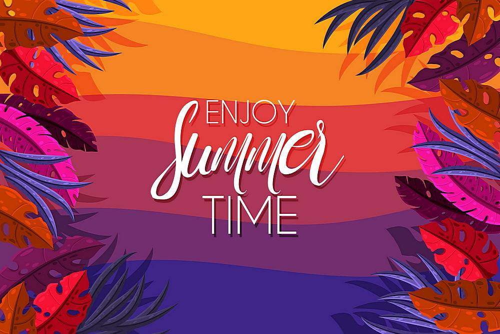 夏季促销背景设计_8455029