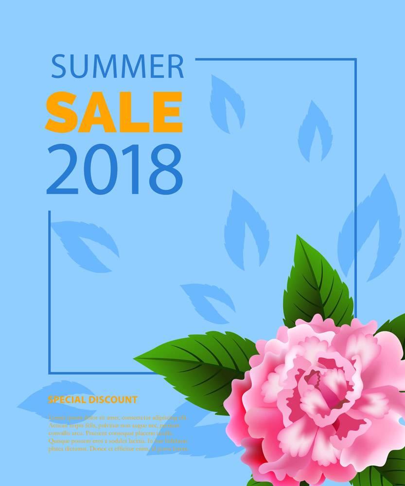 夏季大减价用牡丹框上的字样夏季优惠或_2766956