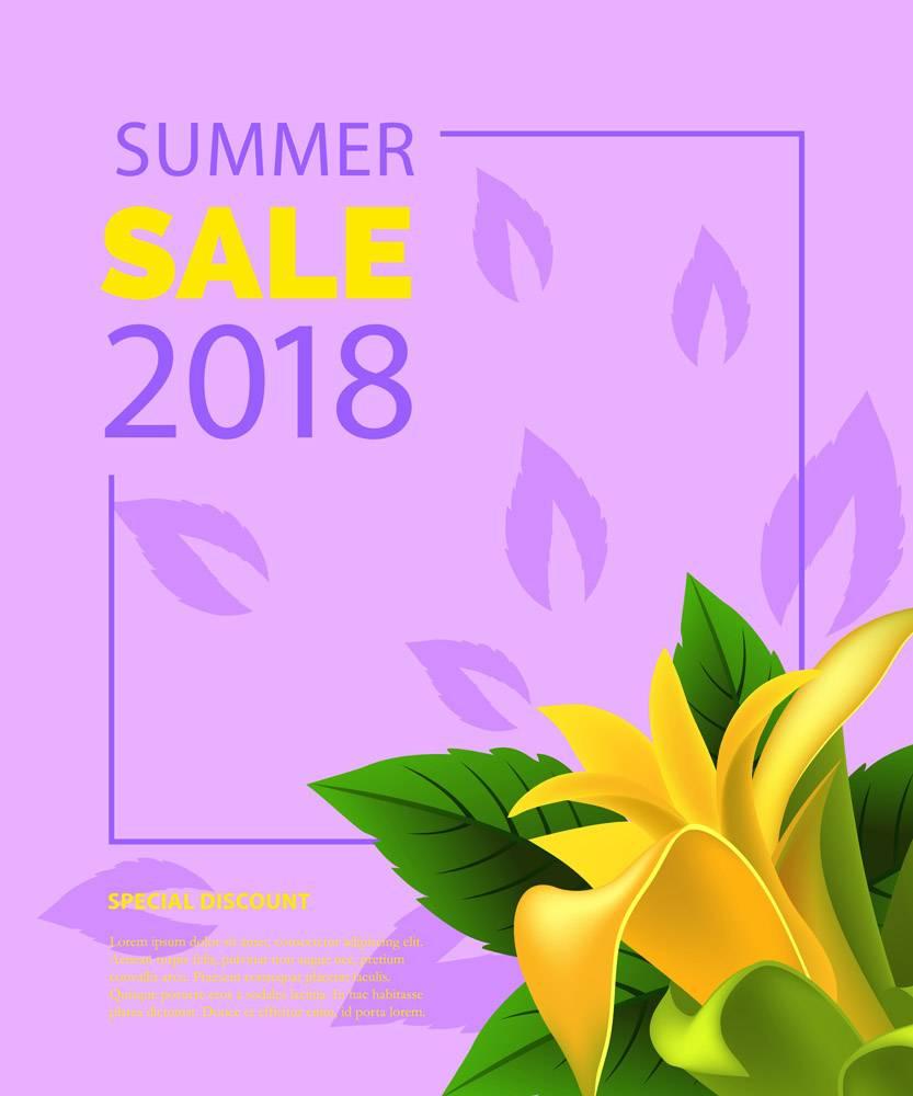 夏季大减价用黄色的花纹装框夏季优惠或_2766960