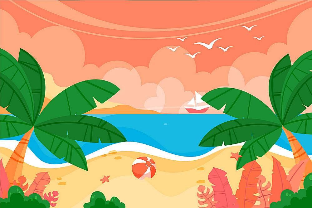 夏季景观缩放背景_8945152