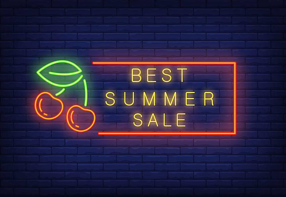 夏季最畅销的霓虹灯文字配樱桃相框季节性_2767056
