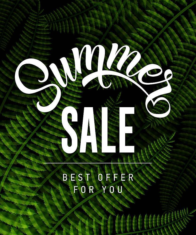 夏季特卖会为您提供印有热带树叶的最优惠价_2438899