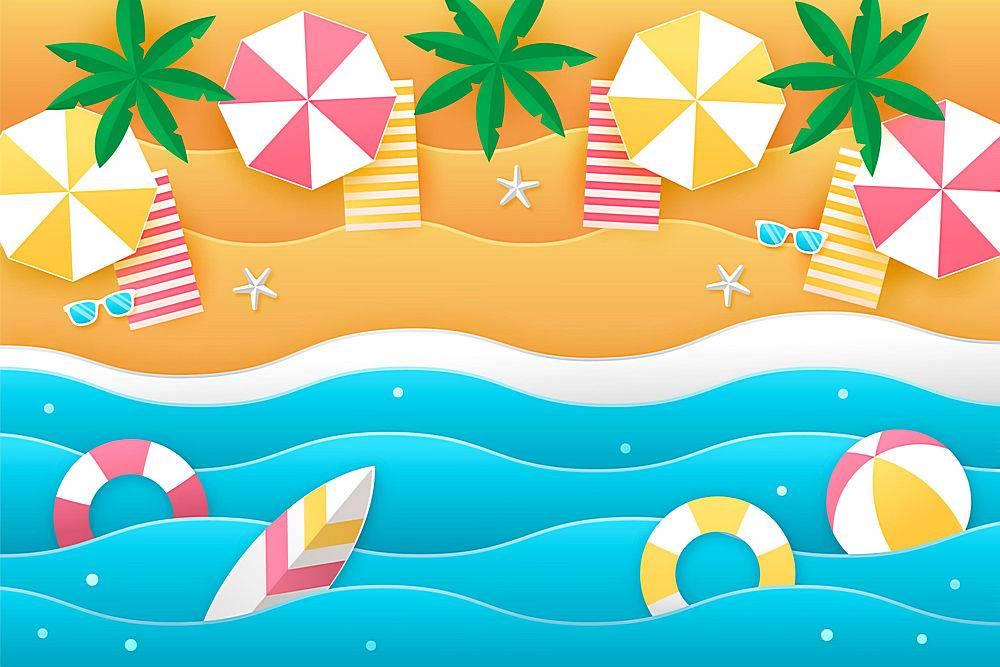 夏季纸质墙纸_8412792