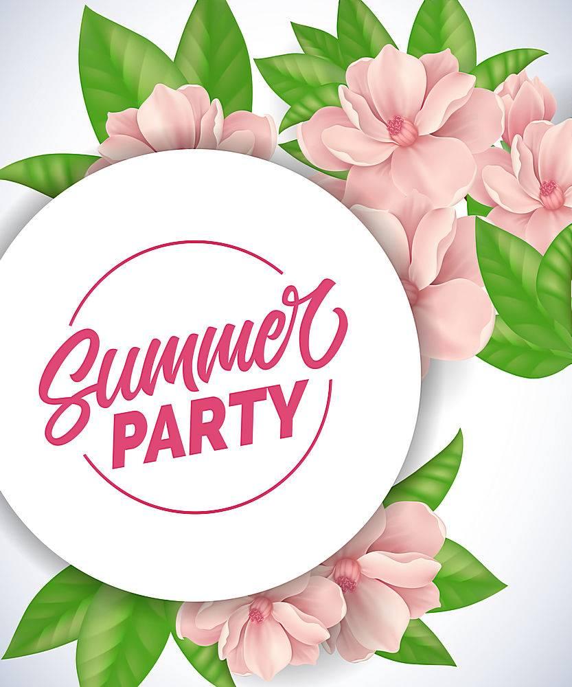 夏日派对上的字母浪漫的背景粉红色的嫩_2438896