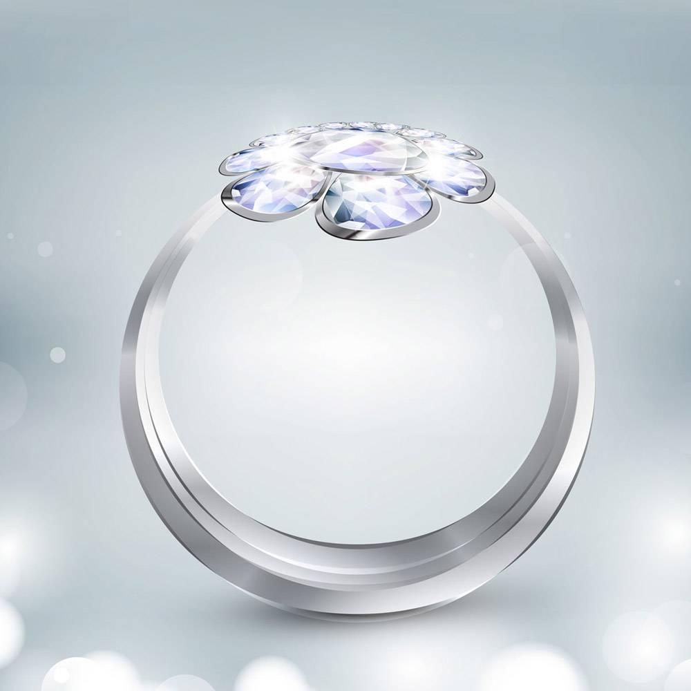 闪亮的戒指背景_824909