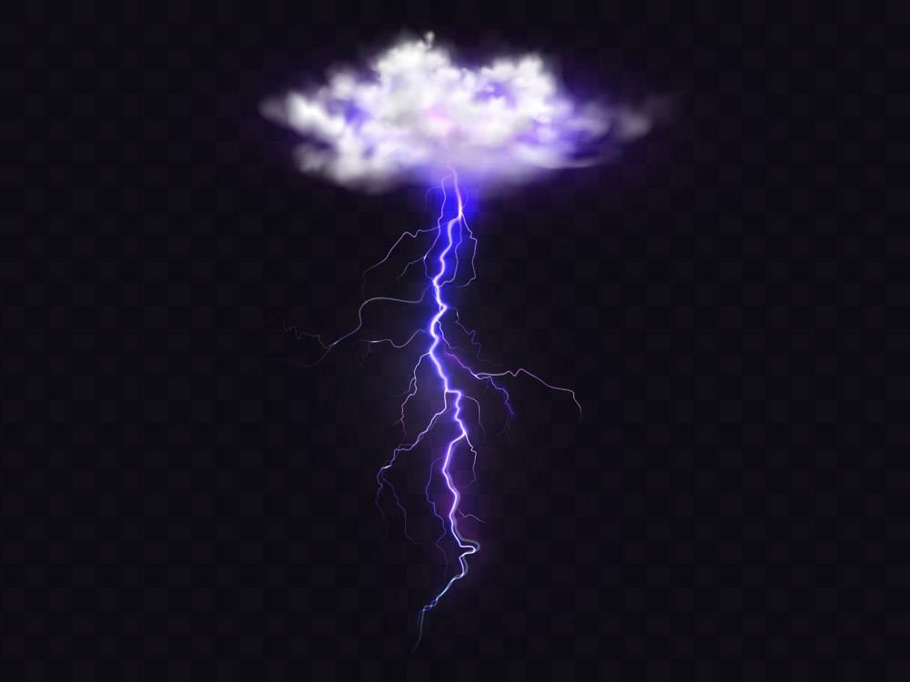 闪电十万伏特出自雷雨云插图_3519614