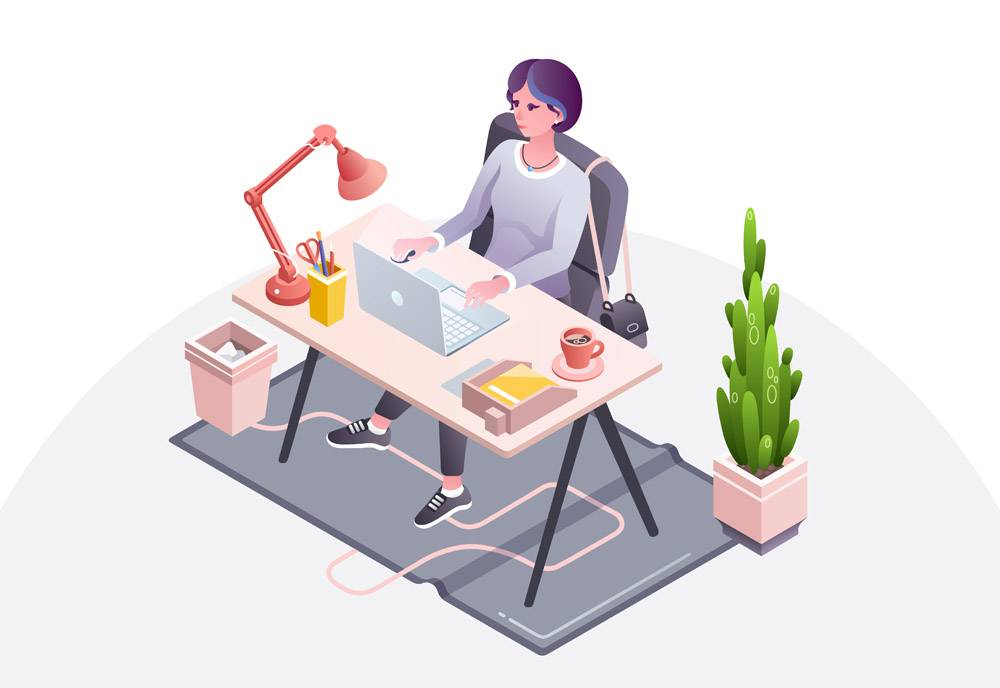 女工作场所女商人女秘书或女经理在办公室_3090693