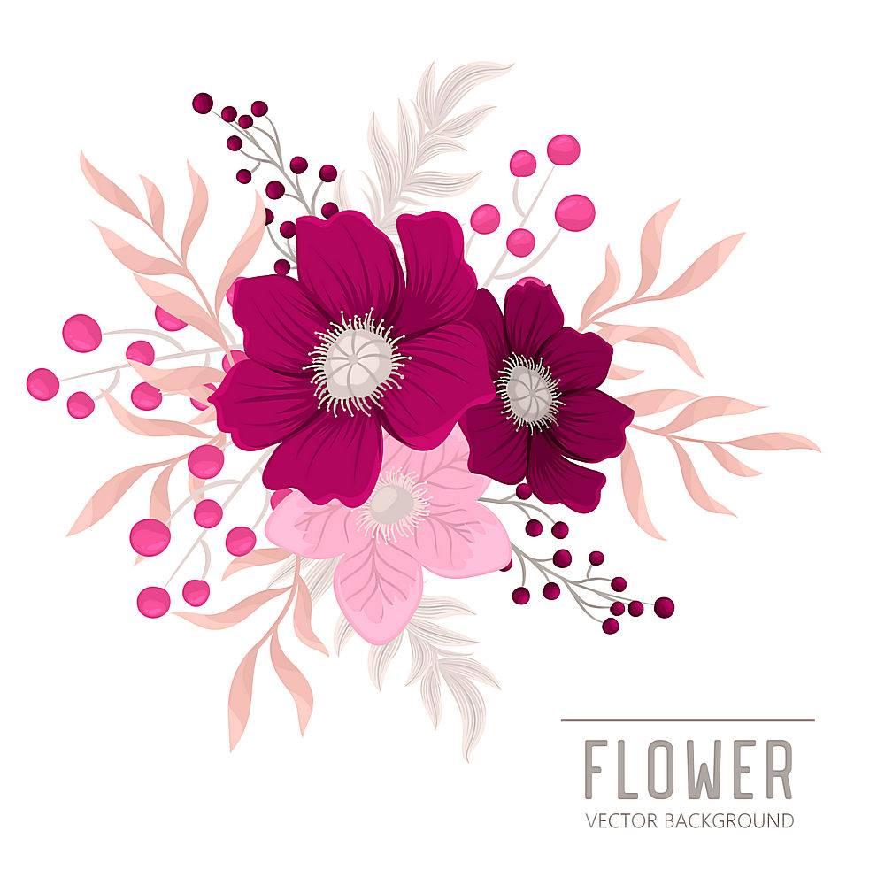 带有五颜六色花朵的花香成分_4295157