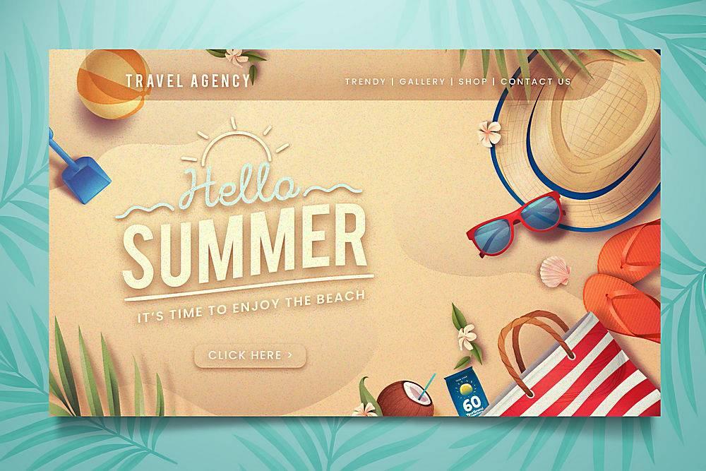 您好夏季登录页面_8274369