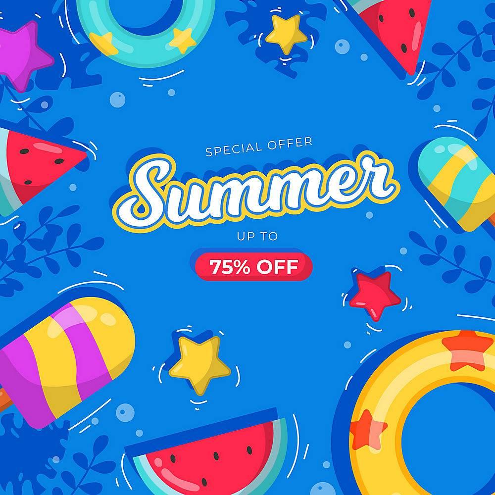 平面设计夏季促销概念_8352699
