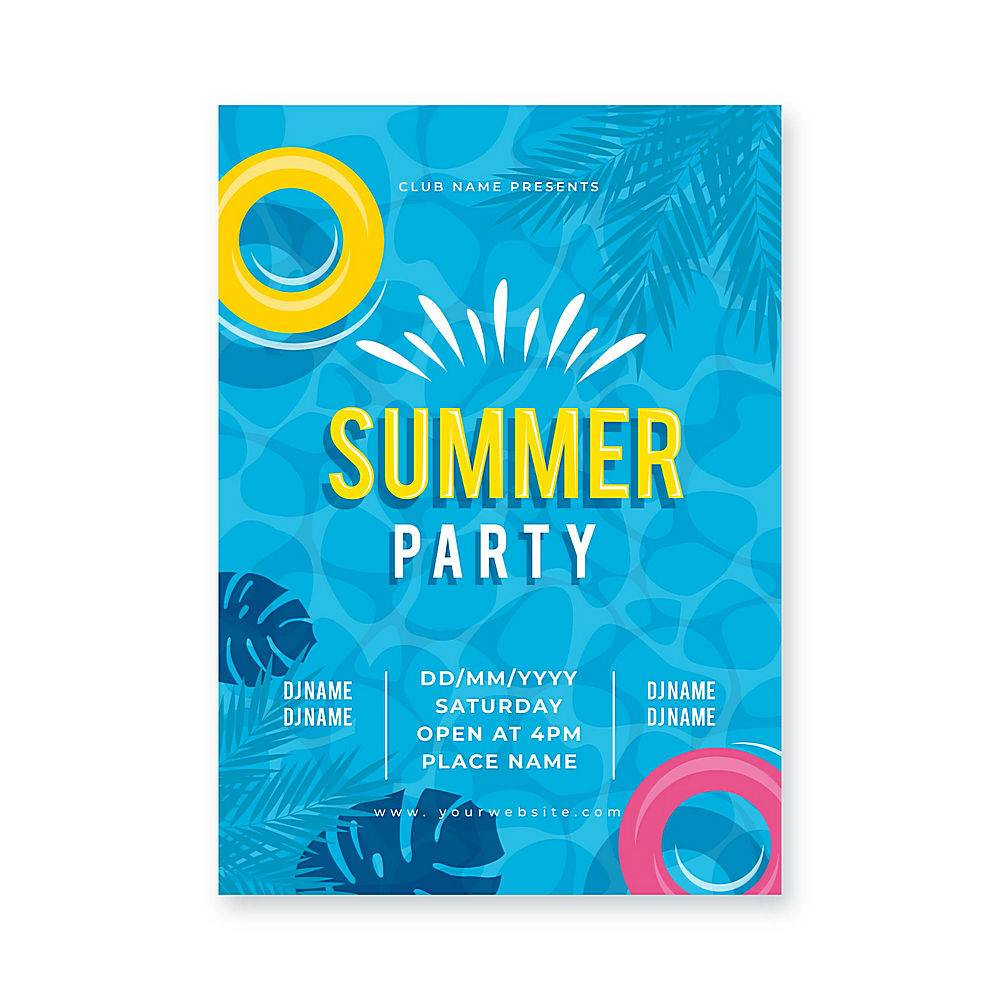 平面设计夏日派对海报_8132571