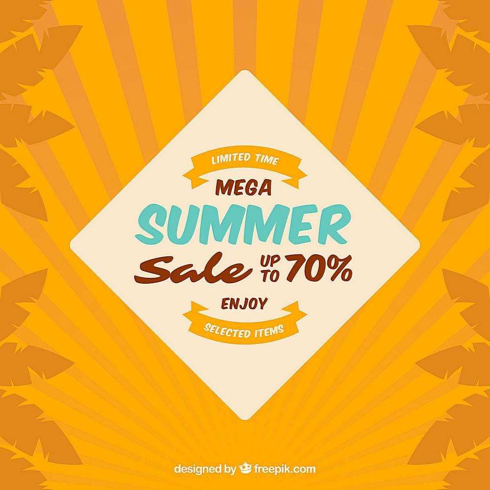 复古风格的夏季销售背景_2174967